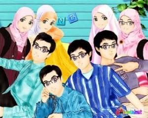 Kartun Gambar Muslimah Yang Cantik-00000061