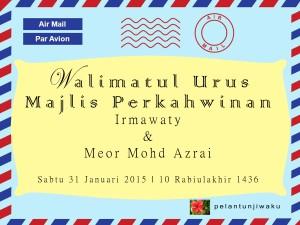 kad kahwin by air mail par avion